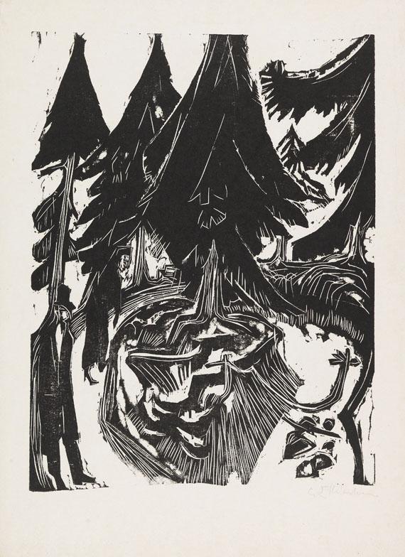 Ernst Ludwig Kirchner - Sanatoriumsspaziergang