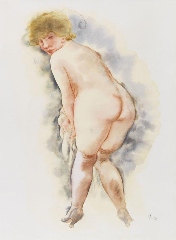 George Grosz - Blonder Rückenakt Lotte
