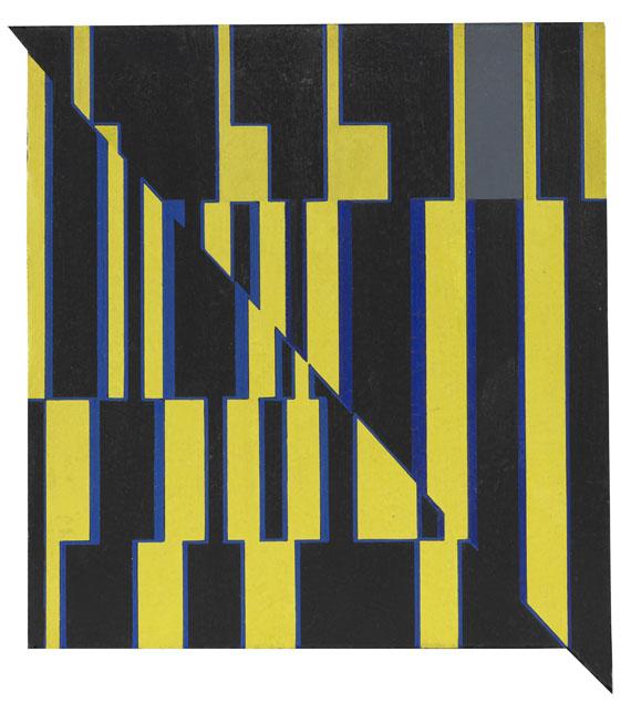Günter Fruhtrunk - Ohne Titel (Diagonaler Bruch)