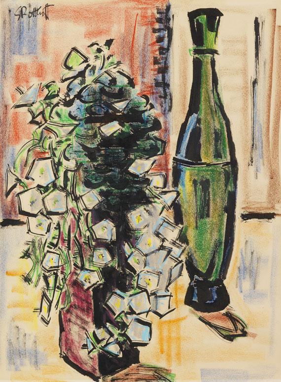 Karl Schmidt-Rottluff - Stillleben mit grüner Vase