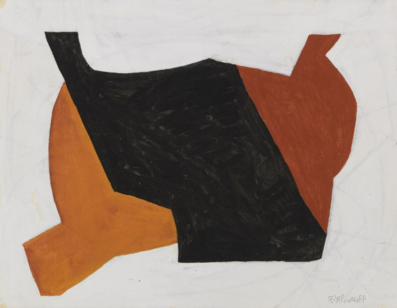 Serge Poliakoff - Rouge noir blanc