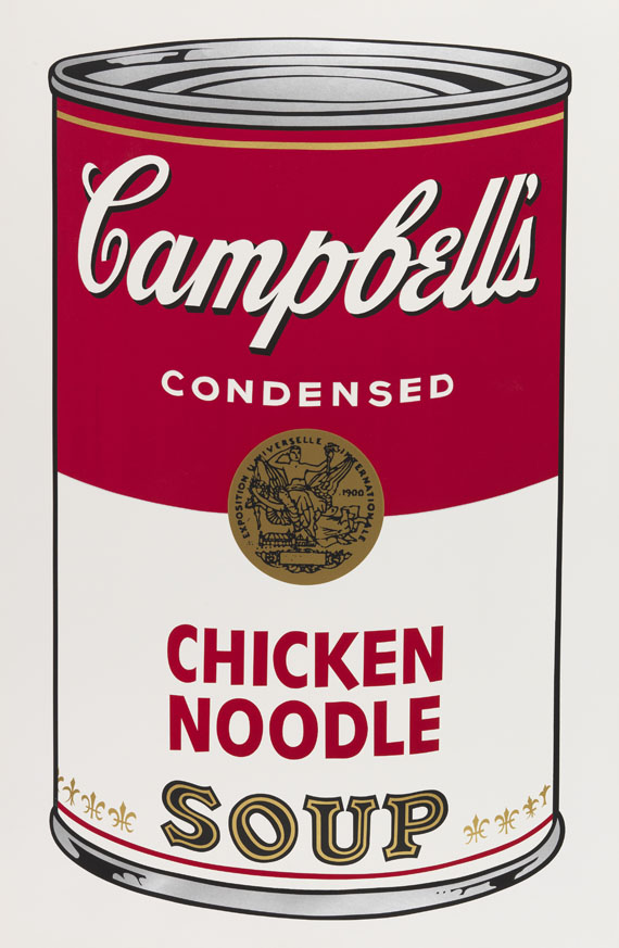 Andy Warhol - Campbell's Soup I: Chicken Noodle