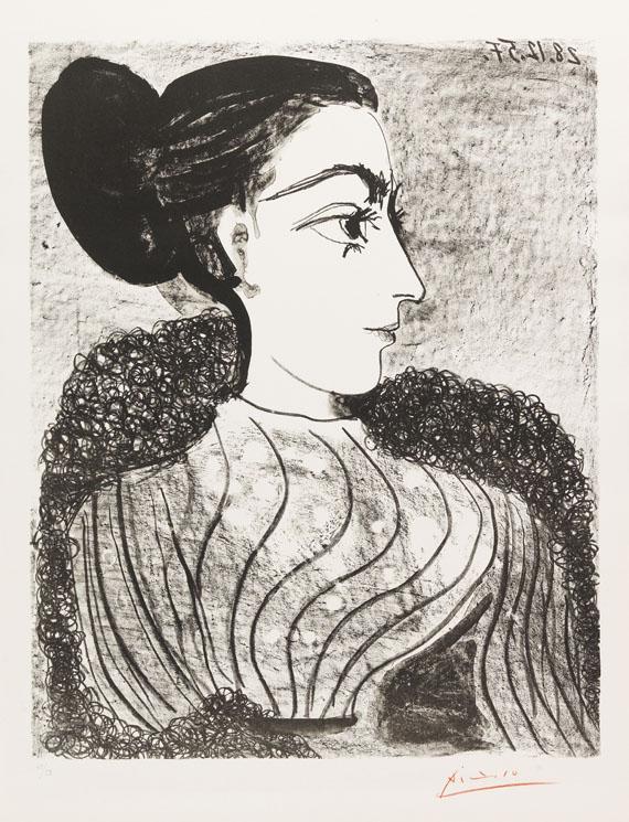Pablo Picasso - Femme au Chignon (1er état)
