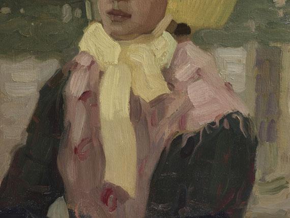 Leo Putz - Porträt Veronika Kirmaier im Schleissheimer Garten - Weitere Abbildung