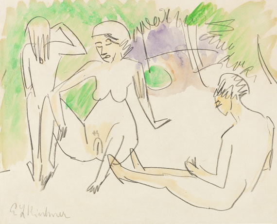 Ernst Ludwig Kirchner - Drei Frauenakte