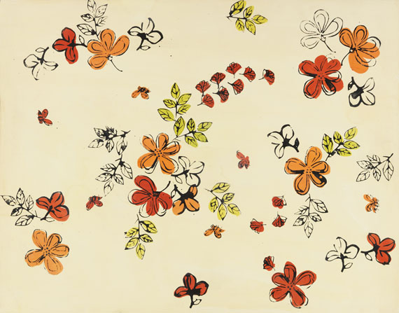 Andy Warhol - Flowers and Butterflies