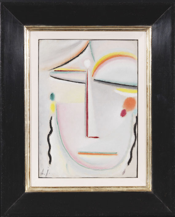 Alexej von Jawlensky - Abstrakter Kopf: Erleuchtung II - Rahmenbild