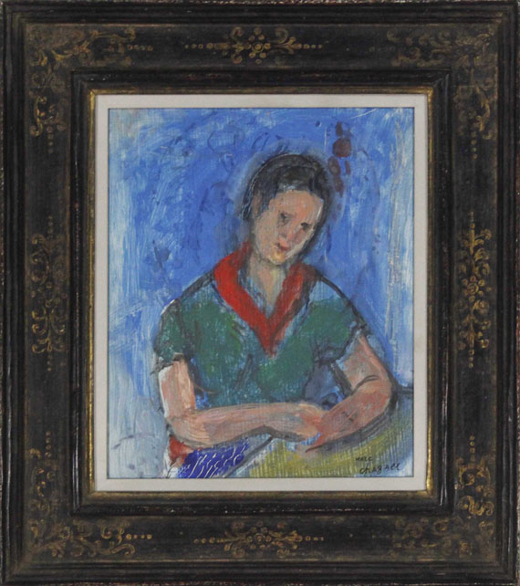 Marc Chagall - Portrait de Vava - Rahmenbild