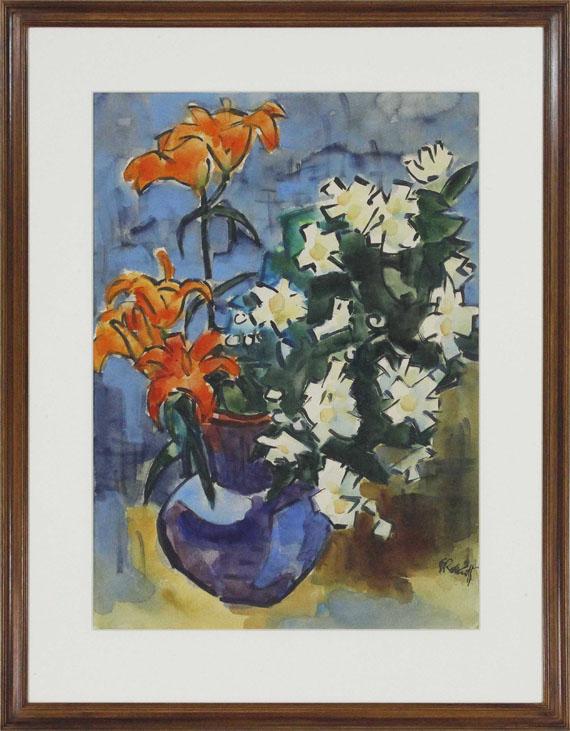 Karl Schmidt-Rottluff - Feuerlilien und Jasmin - Frame image