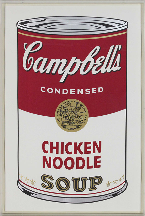 Andy Warhol - Campbell's Soup I: Chicken Noodle - Rahmenbild