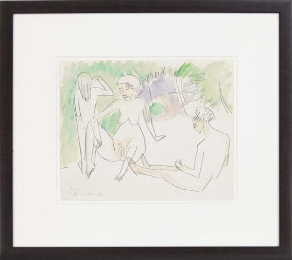 Ernst Ludwig Kirchner - Drei Frauenakte - Frame image