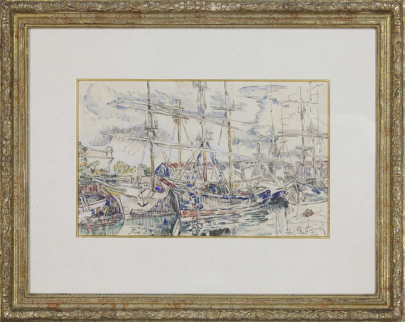 Paul Signac - Saint-Malo, les Terre-neuvas - Frame image