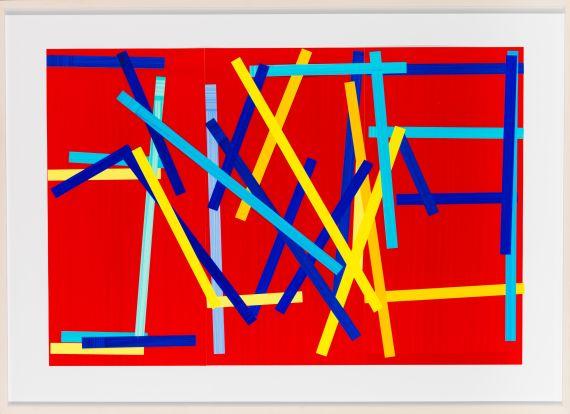 Imi Knoebel - Fishing red II - Frame image
