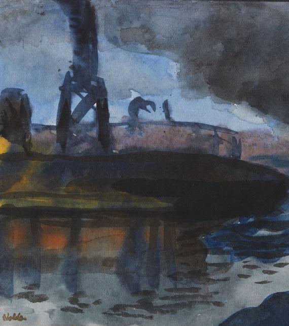 Emil Nolde - Hamburger Hafen - Weitere Abbildung