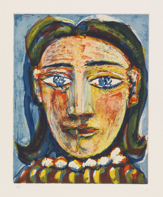 Pablo Picasso - Tête de femme No 1. Portrait de Dora Maar