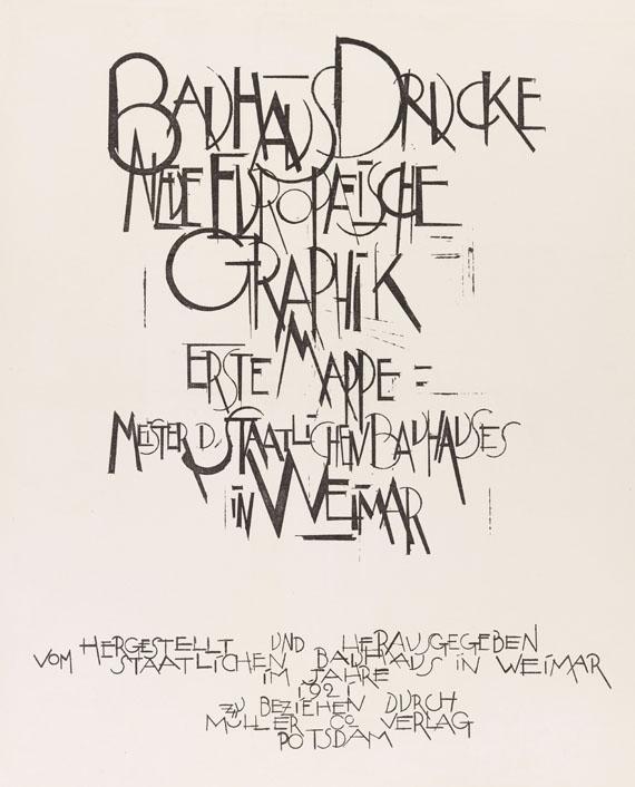 Mappenwerk / Portfolio - Bauhaus-Drucke. Neue Europäische Graphik. Erste Mappe. Meister des Staatlichen Bauhauses in Weimar