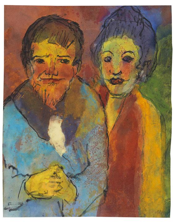 Emil Nolde - Bärtiger Mann und Frau