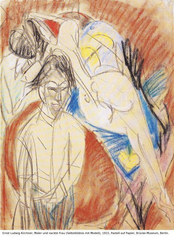 Ernst Ludwig Kirchner - Selbstporträt mit Gerda (Mann und Sitzende im Atelier) - Weitere Abbildung