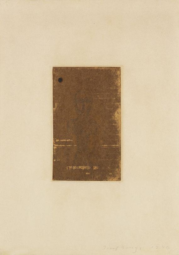 Joseph Beuys - Lieferschein
