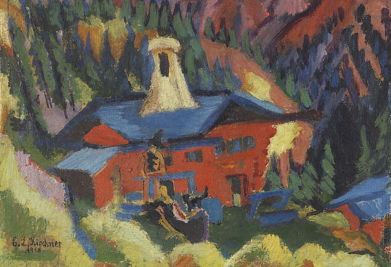 Ernst Ludwig Kirchner - Haus auf der Staffel - Weitere Abbildung