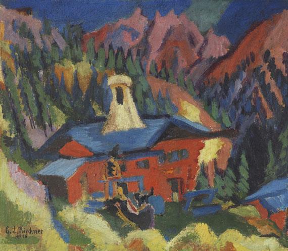 Ernst Ludwig Kirchner - Haus auf der Staffel