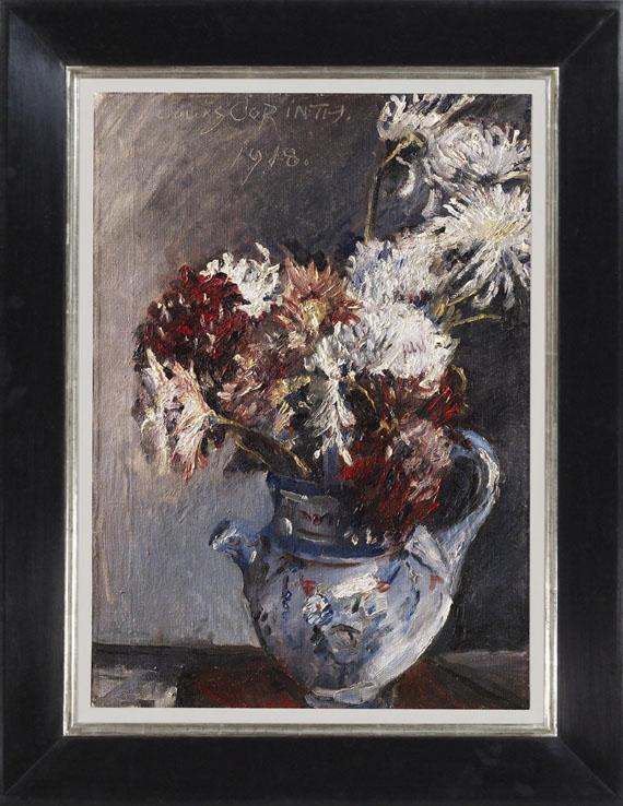 Lovis Corinth - Chrysanthemen im Krug - Rahmenbild