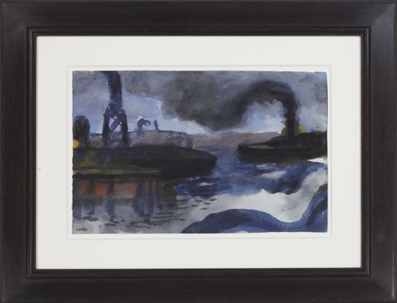 Emil Nolde - Hamburger Hafen - Rahmenbild