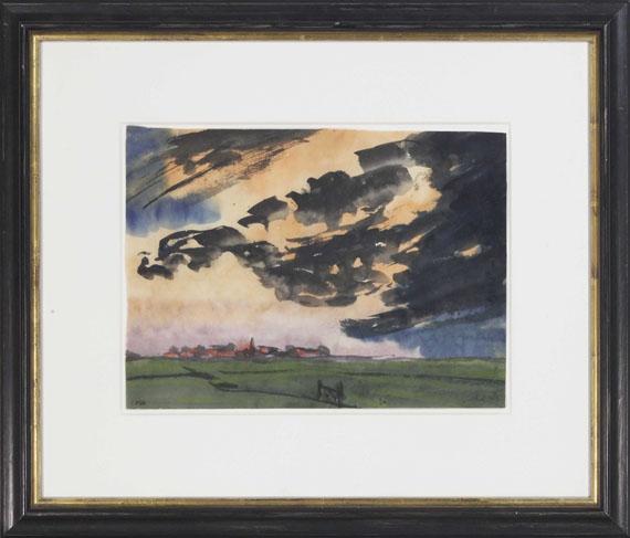 Emil Nolde - Marschlandschaft bei Utenwarf - Frame image