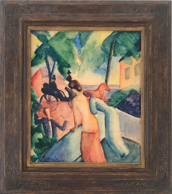 August Macke - Begrüssung (Thunersee) - Frame image
