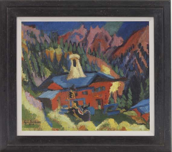 Ernst Ludwig Kirchner - Haus auf der Staffel - Rahmenbild