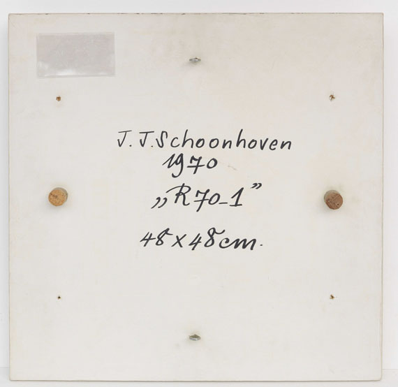 Jan Schoonhoven - R 70-1 - Back side