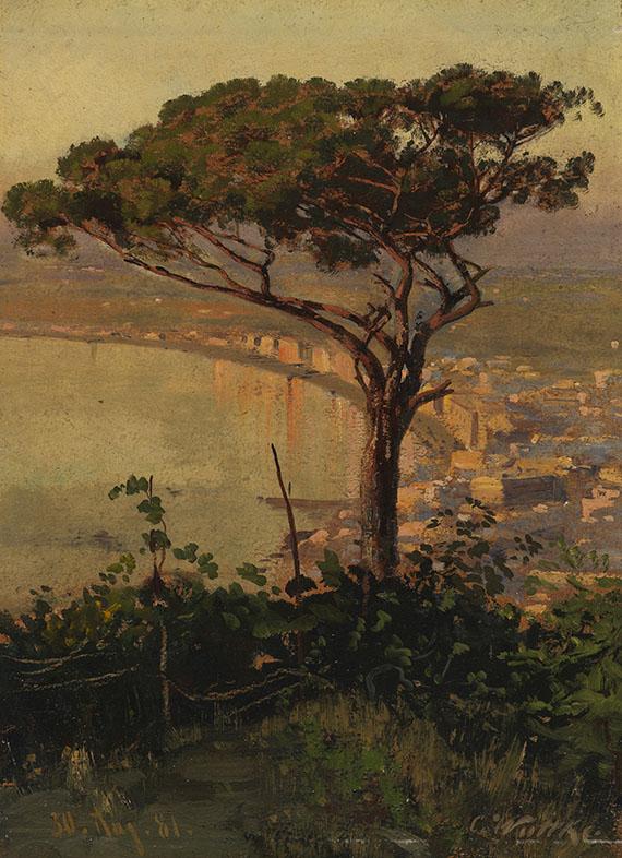 Carl Wuttke - Golf von Neapel im Abendlicht