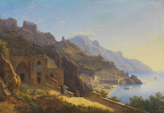 Carl Morgenstern - Blick auf die Amalfiküste bei Sorrent
