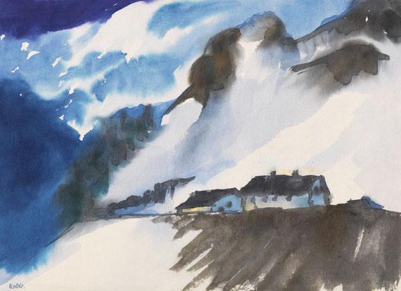 Emil Nolde - Schweizer Berglandschaft im Winter