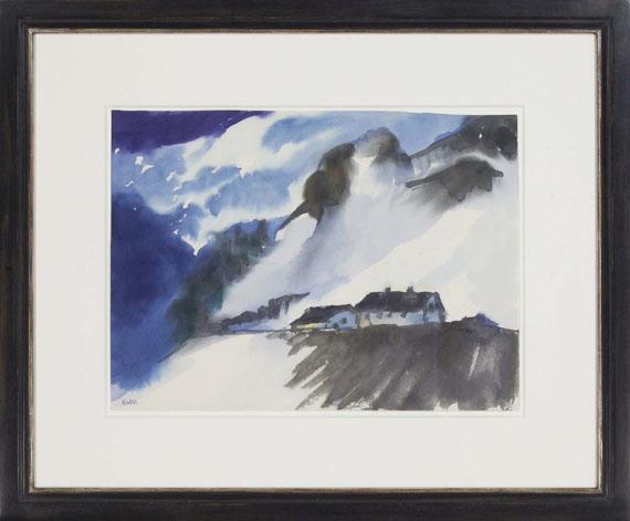 Emil Nolde - Schweizer Berglandschaft im Winter - Rahmenbild