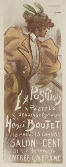 Henri Boutet - Plakat: Salon des Cent. Exposition des pastels, dessins, gravures d'Henri Boutet