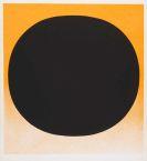 Rupprecht Geiger - Schwarzer Kreis auf rot-orange
