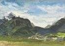Unbekannt - Landschaft mit Dorf