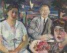 Max Mayrshofer - Familie am See (Drei Bildnisse)