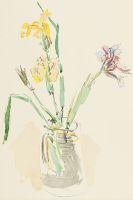 Oskar Kokoschka - Gelbe und violette Iris