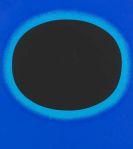 Rupprecht Geiger - Schwarzer Kreis auf blau / schwarzer Kreis mit leuchtblau auf ultramarin