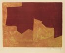 Serge Poliakoff - Composition lie-de-vin et orange