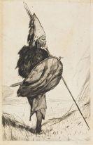 Wilhelm Kuhnert - Masaikrieger