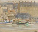 Denis Geoffroy-Dechaume, Ansicht einer kleiner Hafenstadt