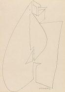 Vasarely, Victor - Tuschfederzeichnung