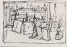 Alberto Giacometti - Man walking in the studio
