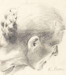 Böse, Konrad - Pencil drawing