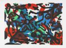 Penck (d. i. Ralf Winkler), A. R. - Etching and aquatint in colors