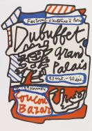 Dubuffet, Jean - Lithograph in colors
