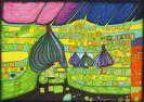 Friedensreich Hundertwasser - Testament in Gelb